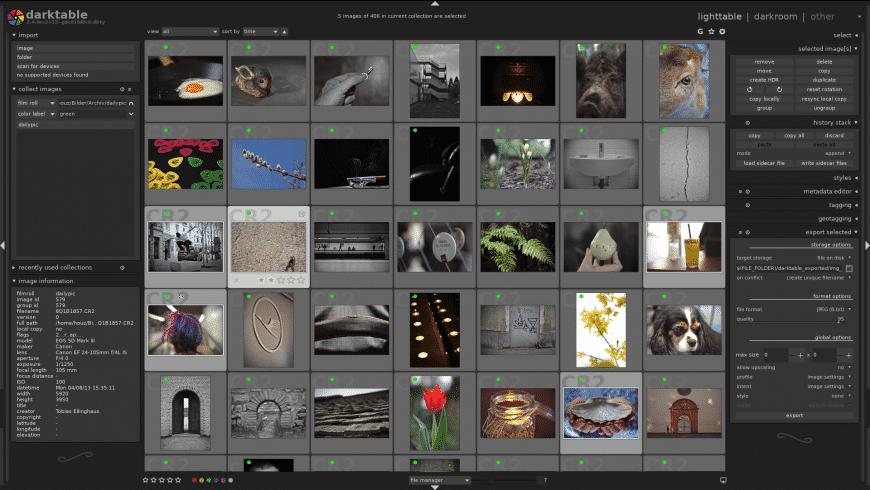 Darktable for Mac - review, screenshots