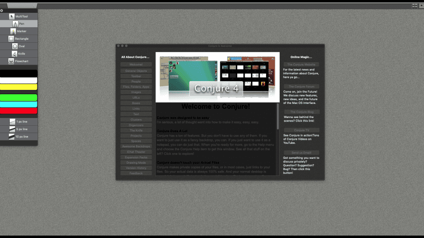 Conjure for Mac - review, screenshots