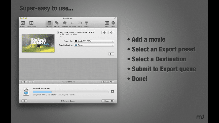 RoadMovie for Mac - review, screenshots