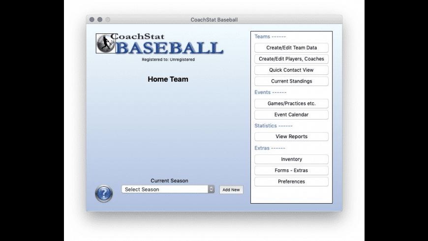 CoachStat Baseball for Mac - review, screenshots