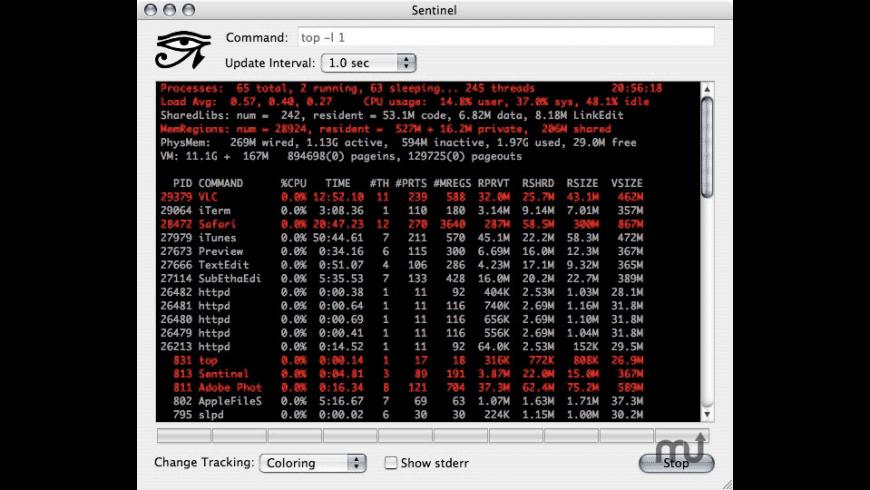 Sentinel for Mac - review, screenshots