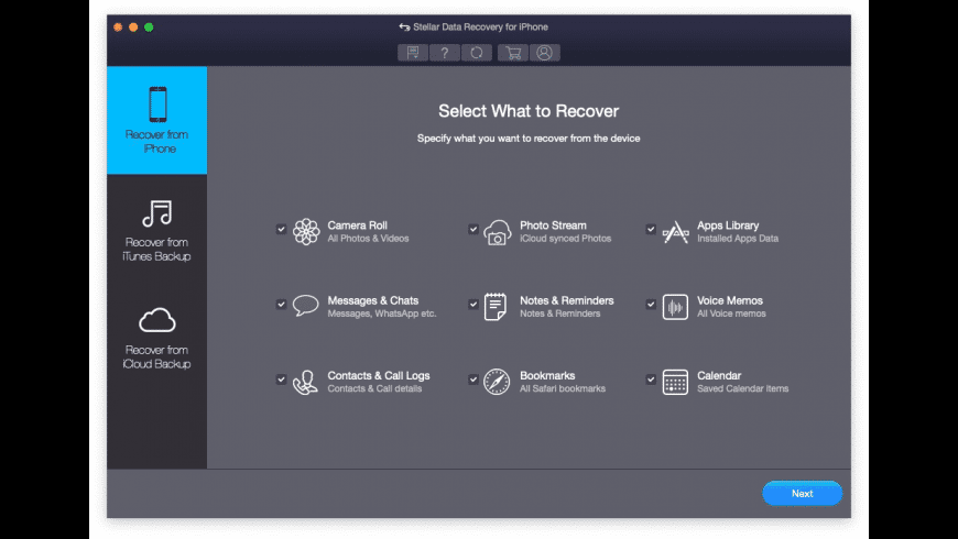 Stellar Data Recovery for iPhone for Mac - review, screenshots
