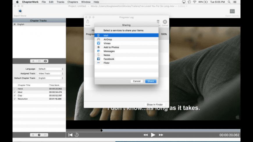 ChapterWork SX for Mac - review, screenshots