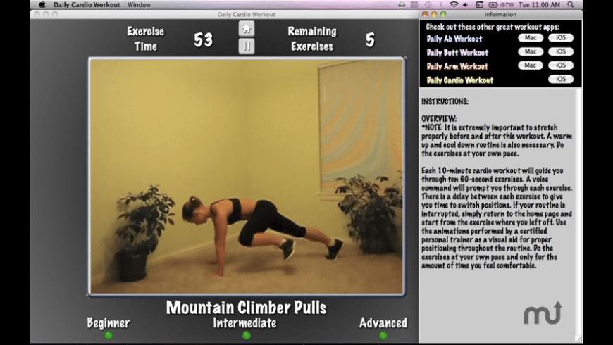 Daily Cardio Workout for Mac - review, screenshots