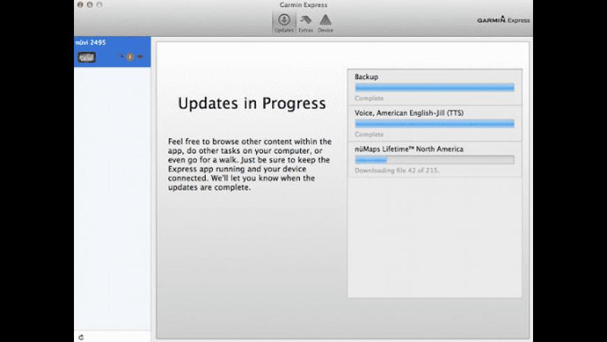 Garmin Express for Mac - review, screenshots