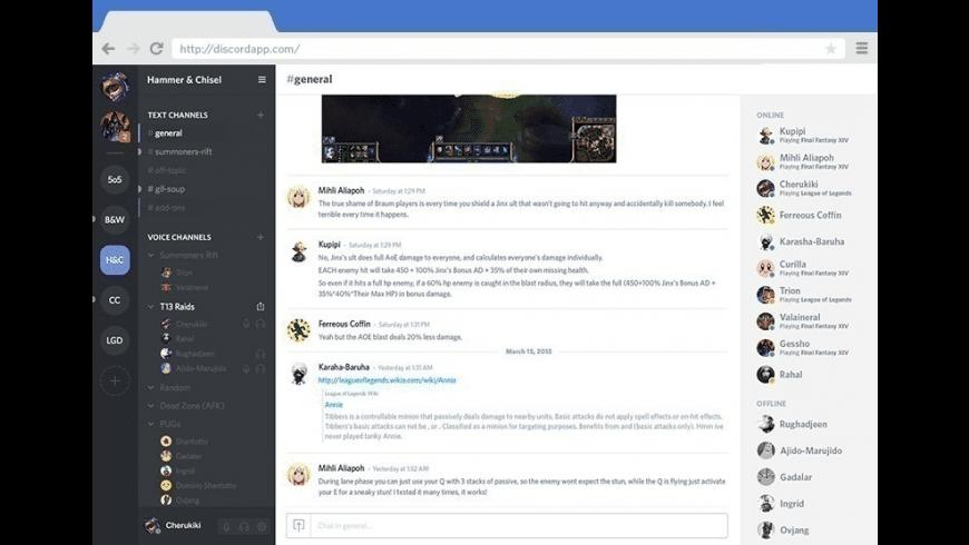 Discord for Mac - review, screenshots