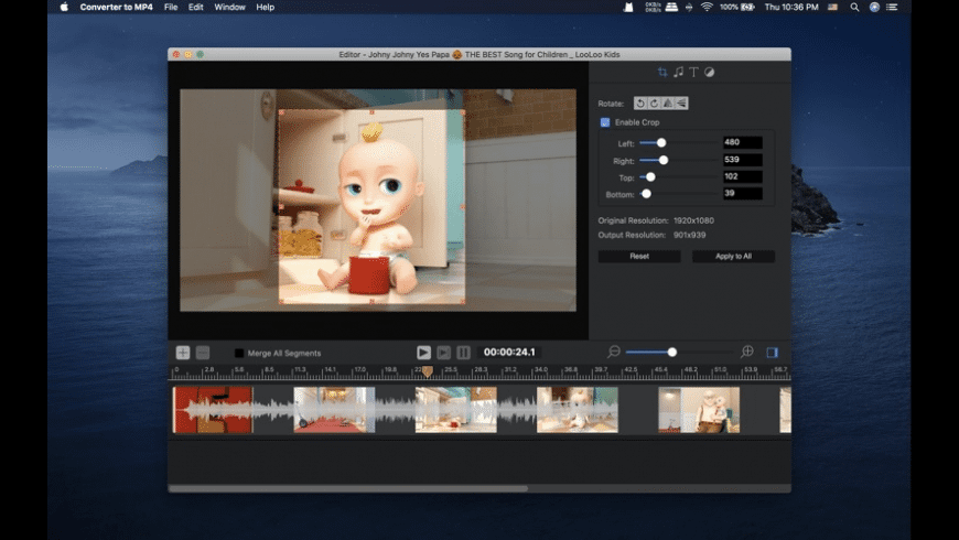 Converter to MP4 for Mac - review, screenshots