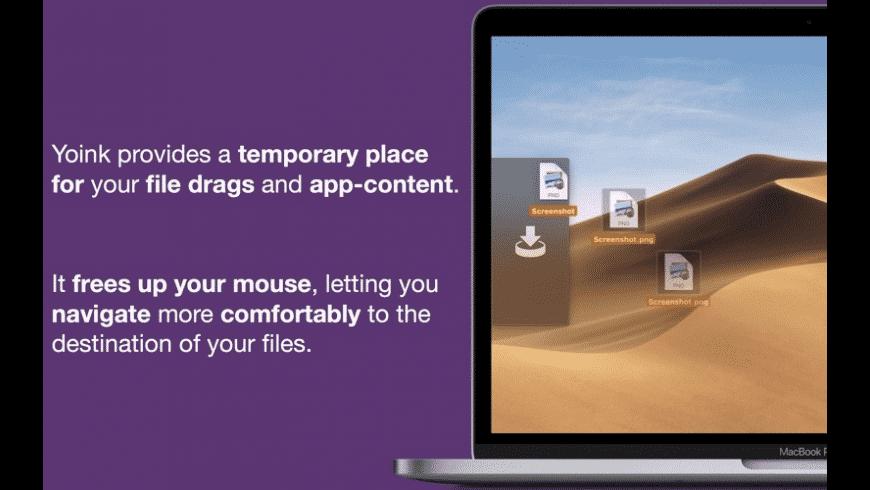 Yoink for Mac - review, screenshots