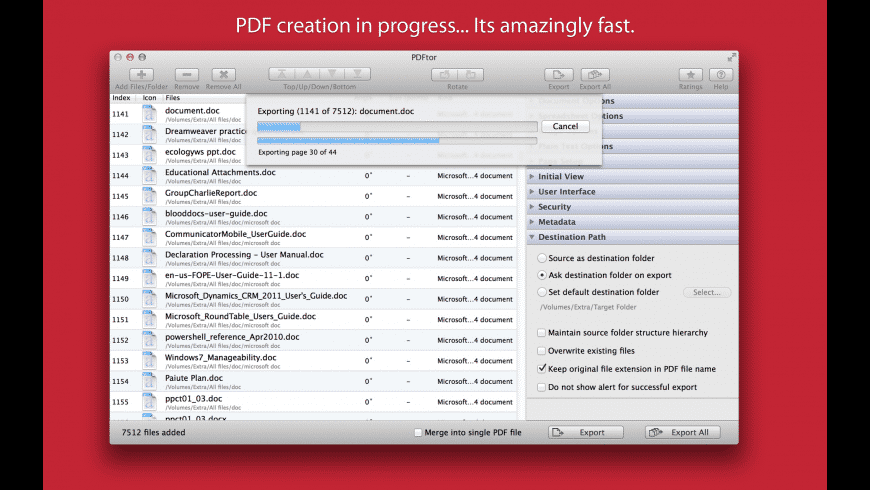 PDFtor for Mac - review, screenshots