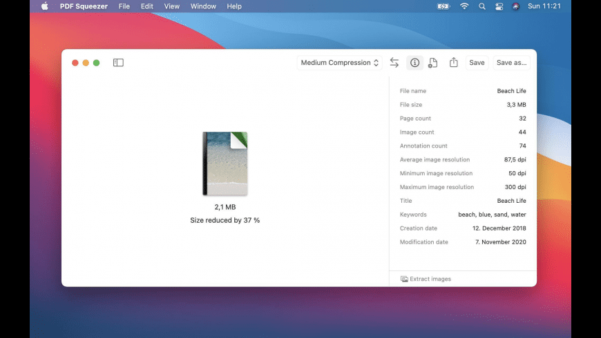 PDF Squeezer for Mac - review, screenshots