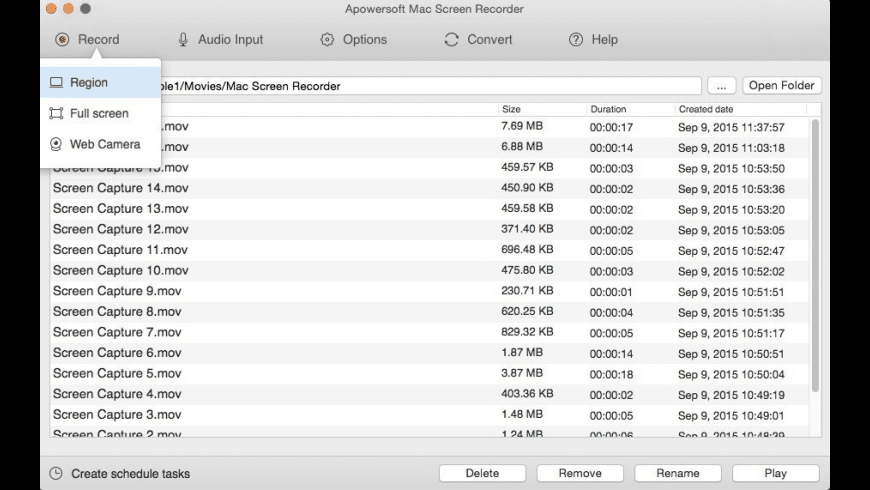 Apowersoft Mac Screen Recorder for Mac - review, screenshots