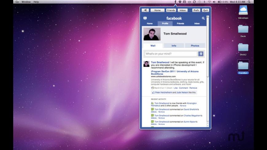 FaceBar for Mac - review, screenshots