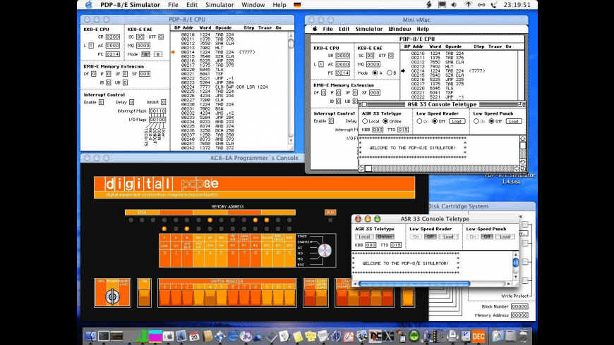 PDP-8-E Simulator for Mac - review, screenshots