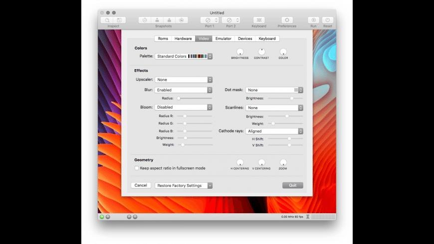 VirtualC64 for Mac - review, screenshots