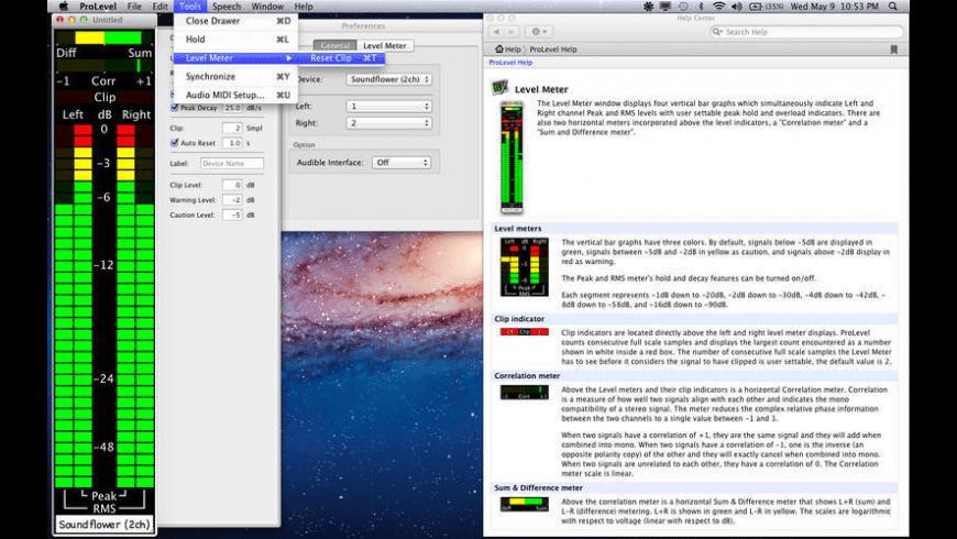 ProLevel for Mac - review, screenshots