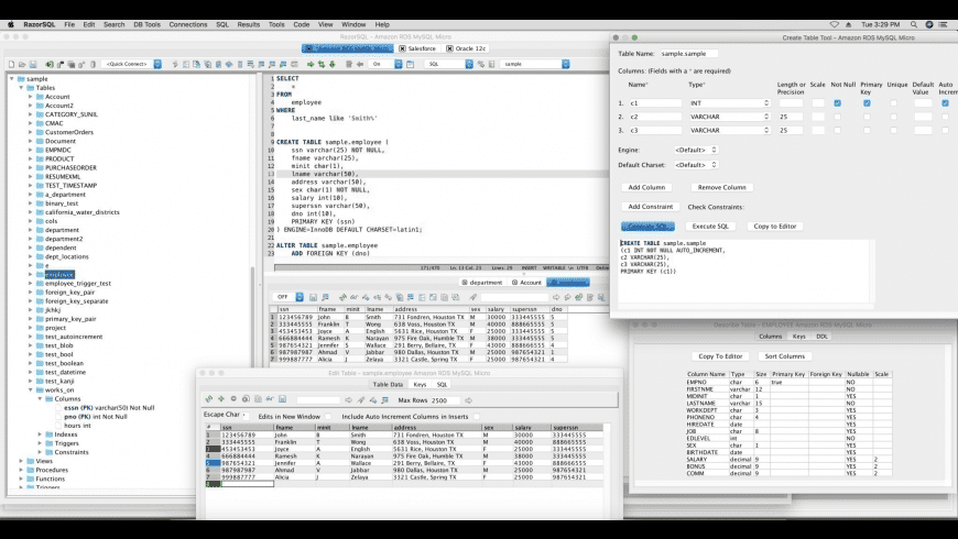 RazorSQL for Mac - review, screenshots