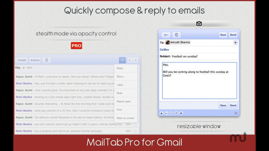 MailTab for Gmail for Mac - review, screenshots