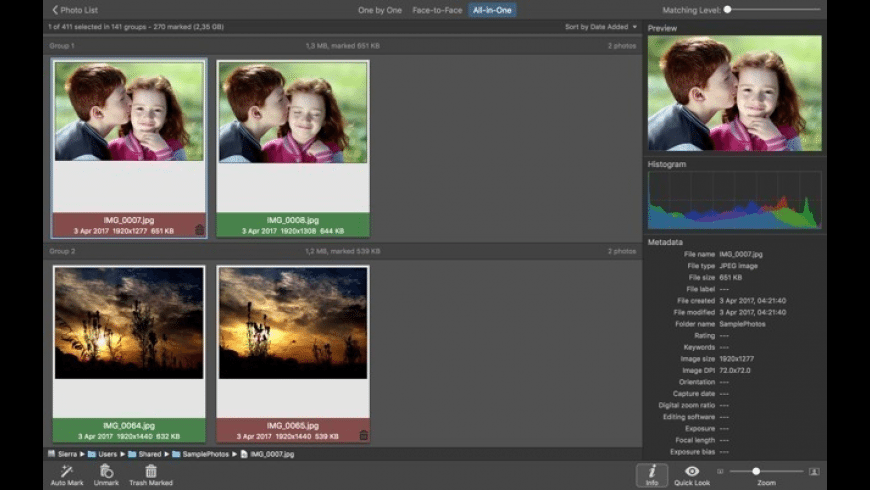 PhotoSweeper for Mac - review, screenshots