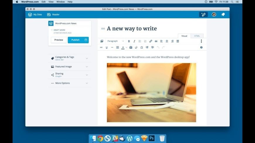 WordPress.com for Mac - review, screenshots