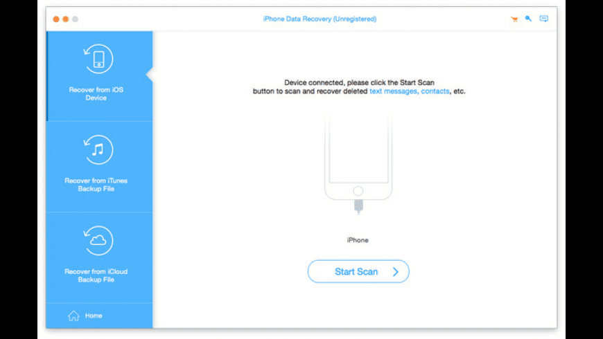 iPhone Data Recovery for Mac - review, screenshots