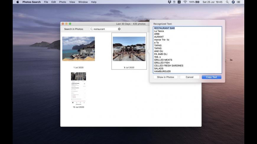Photos Search for Mac - review, screenshots