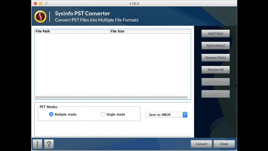 SysInfo Mac PST Converter for Mac - review, screenshots