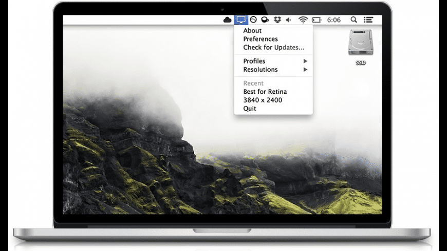 QuickRes for Mac - review, screenshots