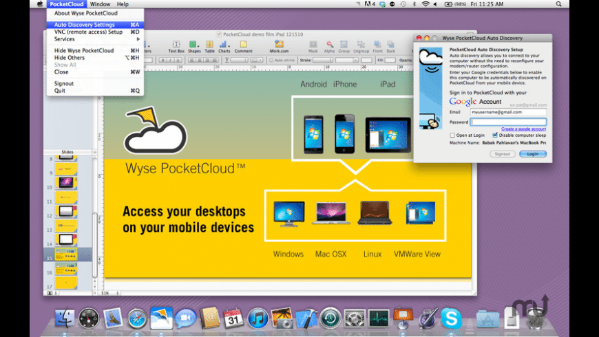 Wyse PocketCloud for Mac - review, screenshots