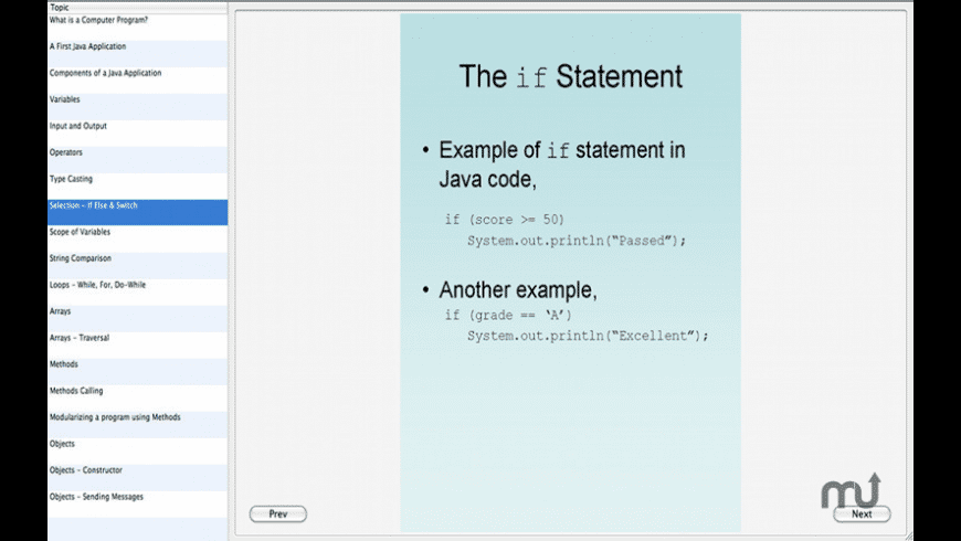 Learn Java for Mac - review, screenshots