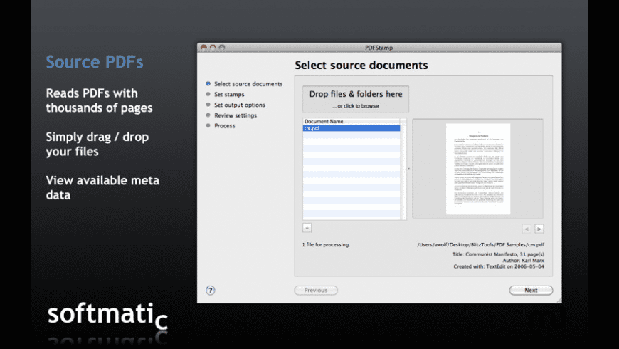 PDFStamp for Mac - review, screenshots