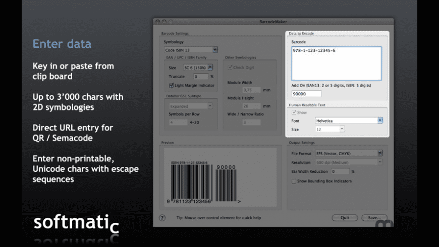 Barcode Maker for Mac - review, screenshots