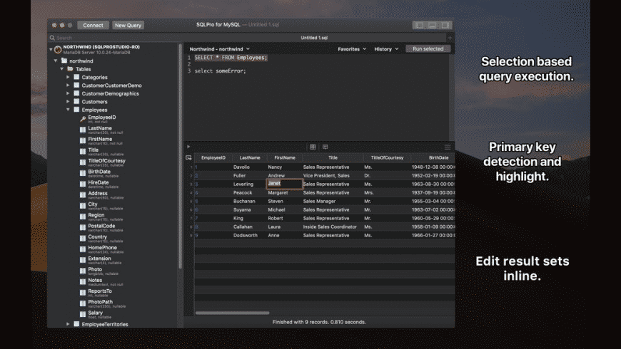 SQLPro for MySQL for Mac - review, screenshots