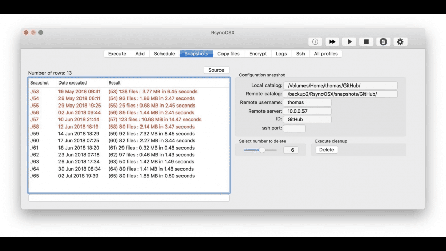 RsyncOSX for Mac - review, screenshots