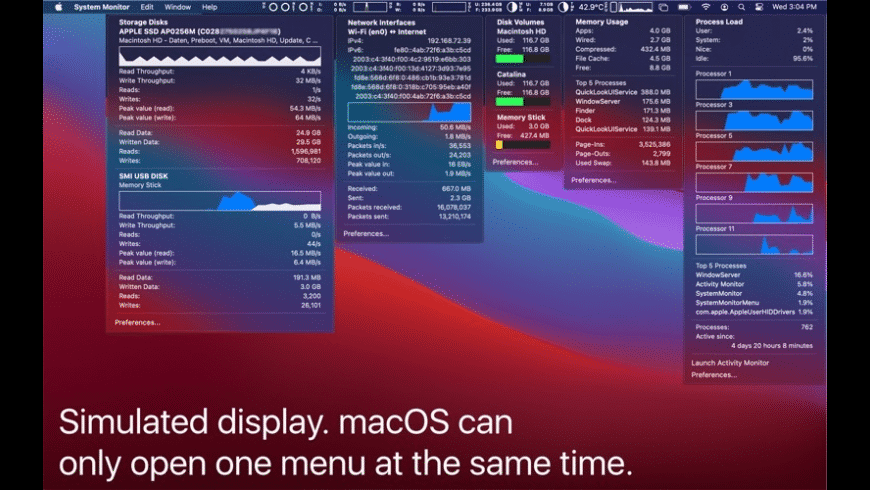 System Monitor for Mac - review, screenshots