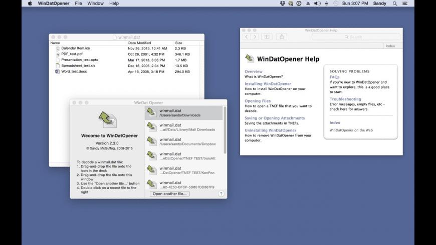 WinDat Opener for Mac - review, screenshots