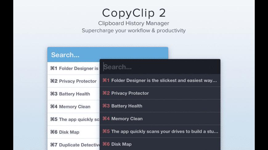 CopyClip for Mac - review, screenshots