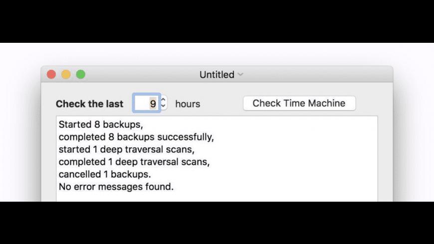The Time Machine Mechanic for Mac - review, screenshots