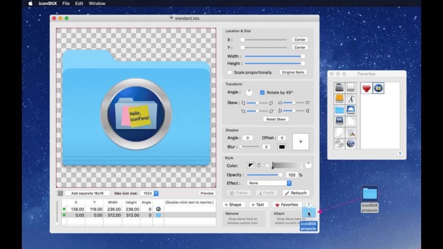 iconStiX for Mac - review, screenshots