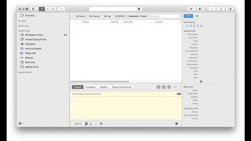 FontAgent for Mac - review, screenshots
