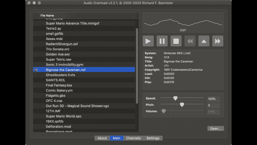 Audio Overload for Mac - review, screenshots