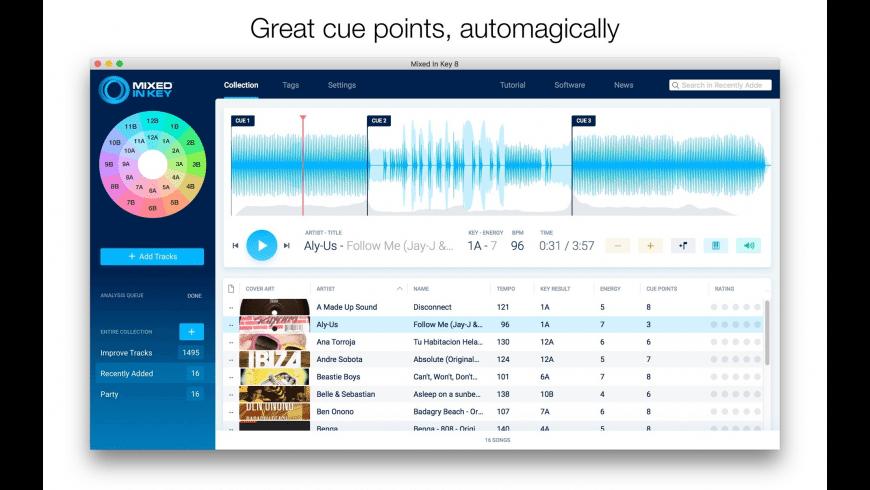 Mixed In Key for Mac - review, screenshots