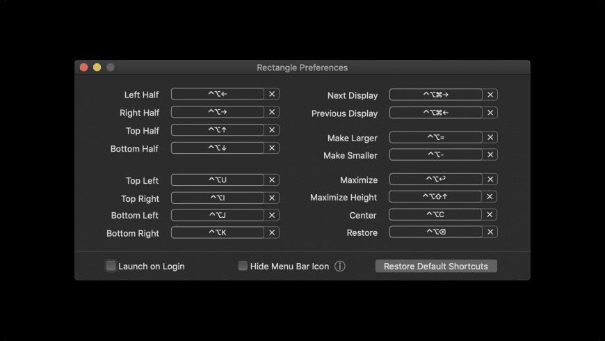 Rectangle for Mac - review, screenshots