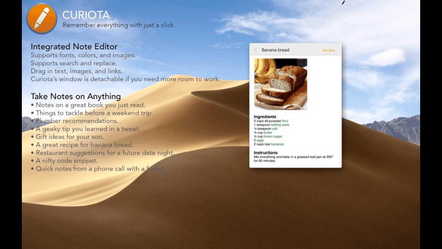 Curiota for Mac - review, screenshots