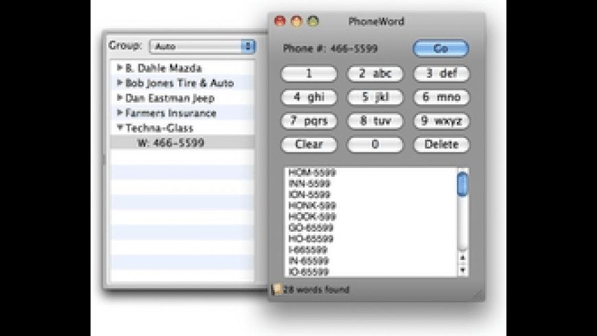 PhoneWord for Mac - review, screenshots