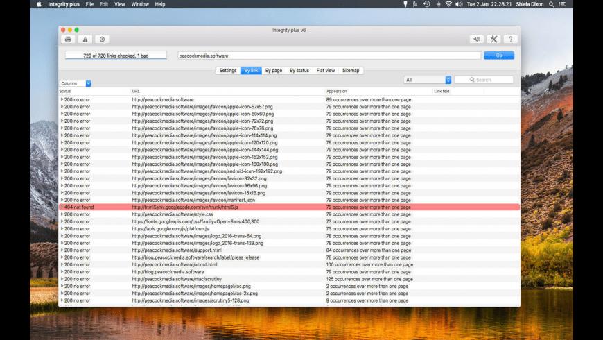 Integrity Plus for Mac - review, screenshots