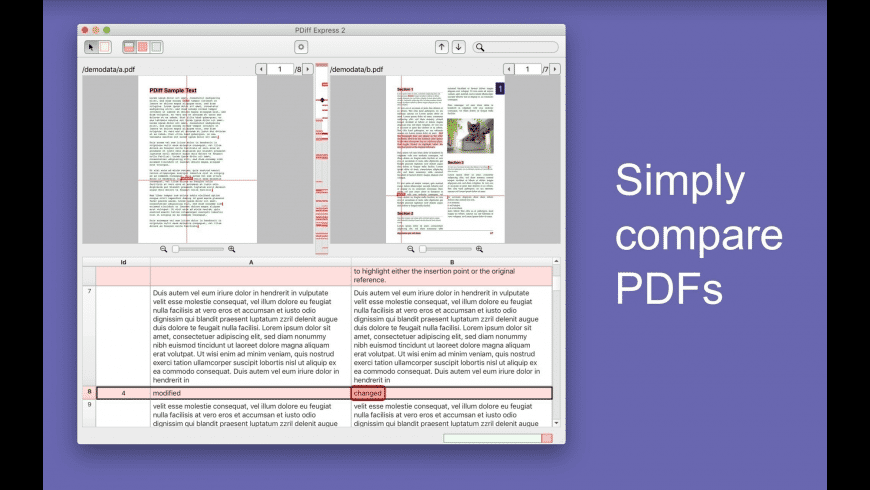 PDiff Express for Mac - review, screenshots