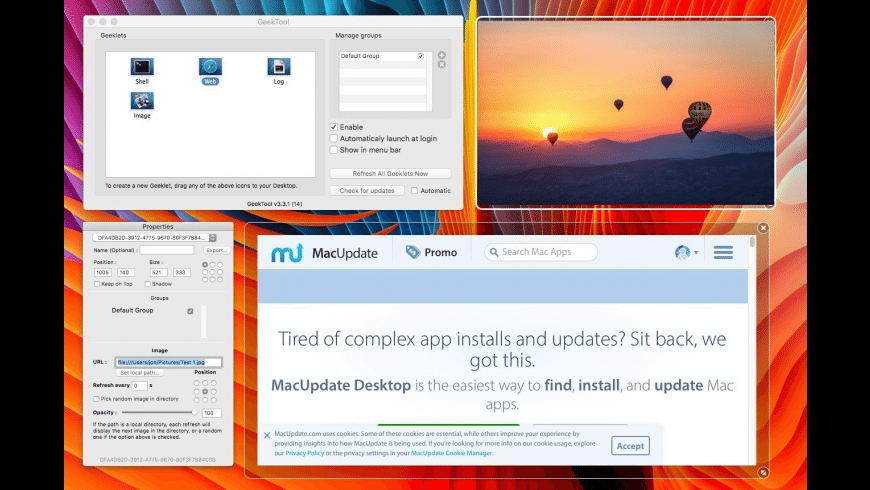 GeekTool for Mac - review, screenshots