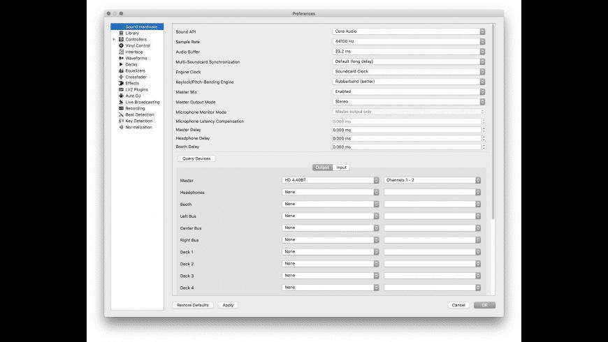 Mixxx for Mac - review, screenshots