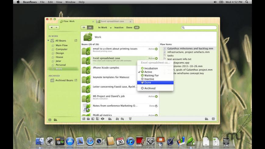 Beanflows for Mac - review, screenshots