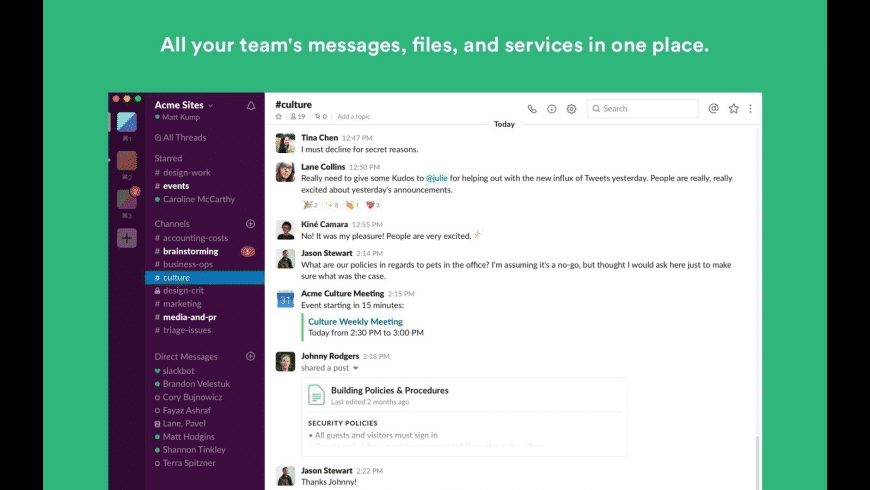 Slack for Mac - review, screenshots